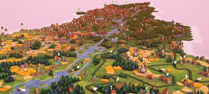 Расслабляющая градостроительная головоломка Dorfromantik вышла в раннем доступе