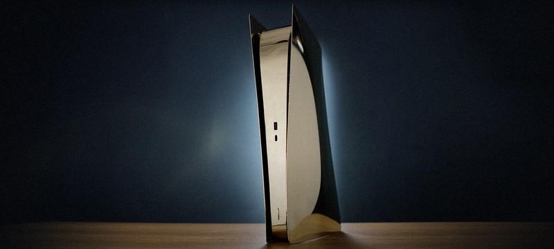 Умелец сделал корпус PS5 из полированной латуни, получилось стильно