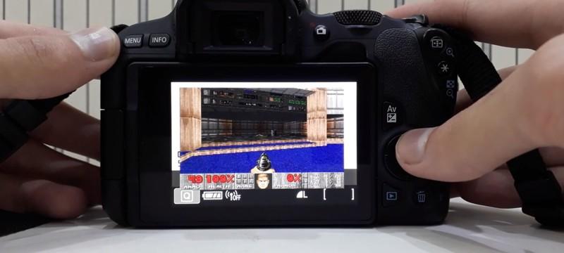DOOM запустили на цифровой камере Canon
