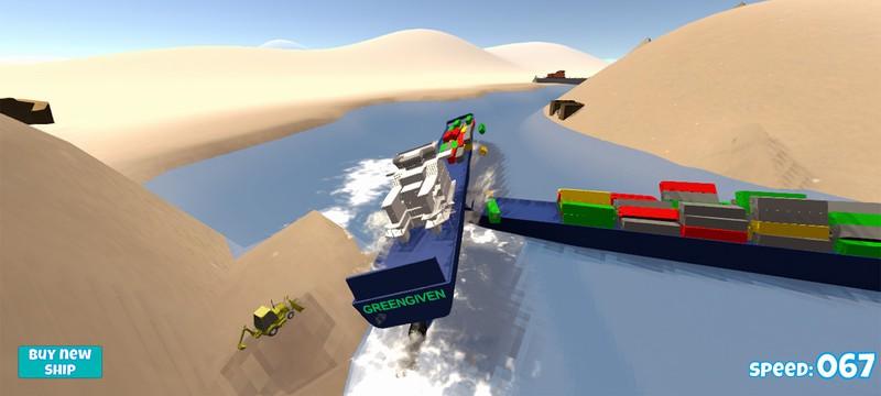 Вышел бесплатный браузерный симулятор корабля в Суэцком канале