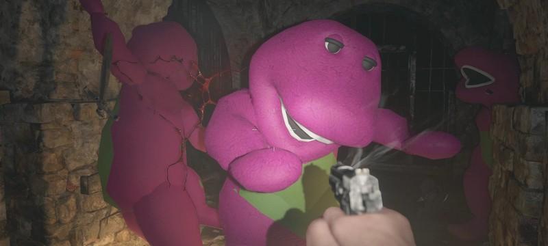 В демо Resident Evil Village добавили динозавра Барни