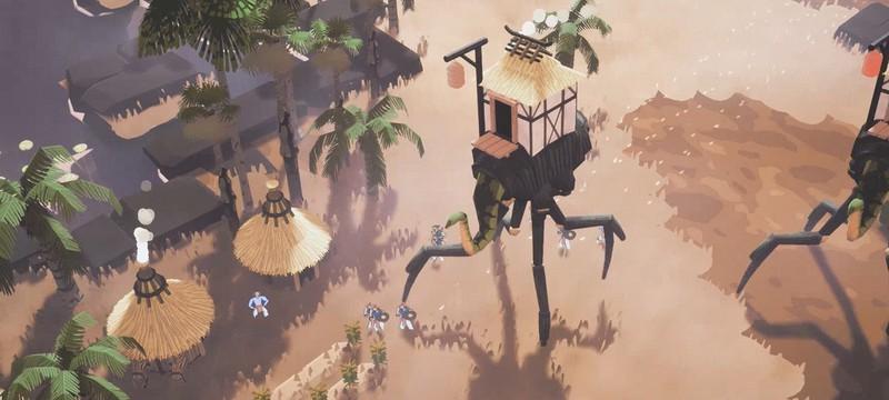 Города на гигантских существах в первом трейлере градостроительной стратегии Kainga