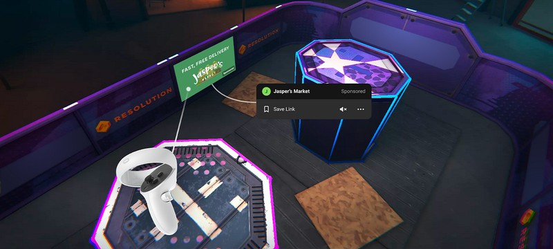В ближайшие недели Facebook начнет тестировать рекламу в VR-играх для Oculus
