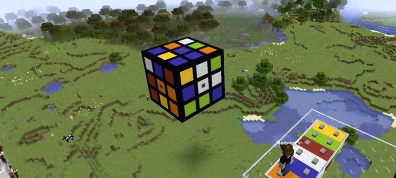 Игрок Minecraft соорудил механизм самособирающегося кубика Рубика при помощи мода Create