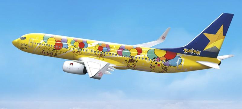 The Pokémon Company представила самолёт с дизайном Пикачу