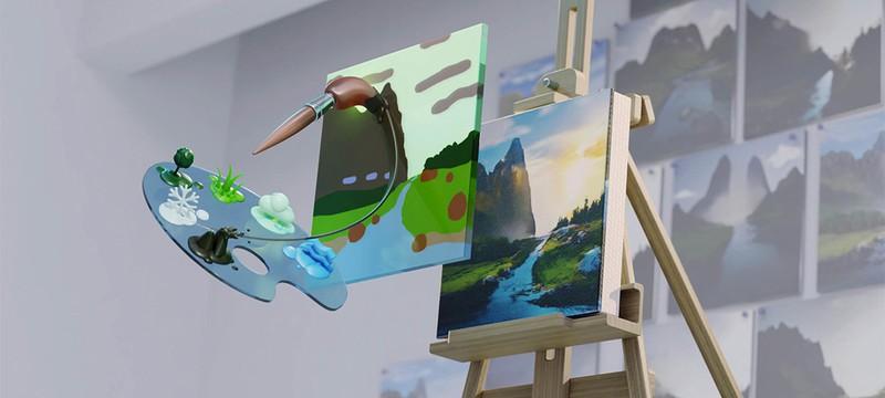 Nvidia выпустила приложение Canvas, генерирующее ландшафты на основе набросков