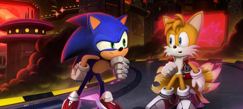 Соник, Тейлз и Доктор Эггман на концепт-артах анимационного сериала Sonic Prime