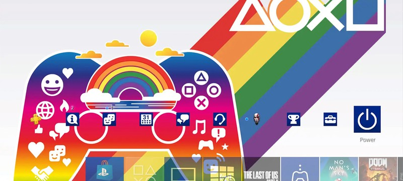 """В честь """"месяца гордости"""" Sony выпустила бесплатную тему для PS4"""