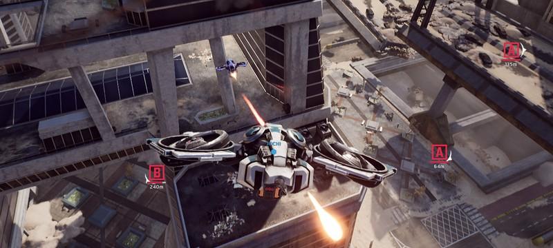 Быстрые перестрелки дронов в трейлере шутера Sky Link