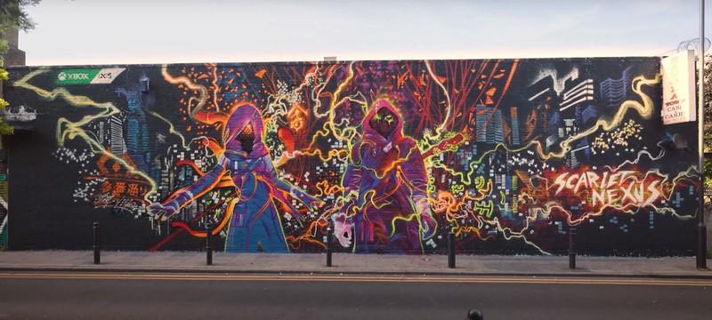 В Лондоне нарисовали крутой стрит-арт в честь релиза Scarlet Nexus