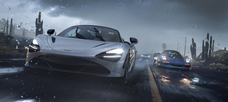 В Forza Horizon 5 шторм и песчаная буря могут быть одновременно на разных концах карты