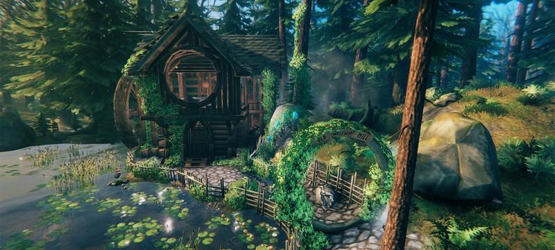 Игрок Valheim построил потрясающую водяную мельницу как у хоббитов