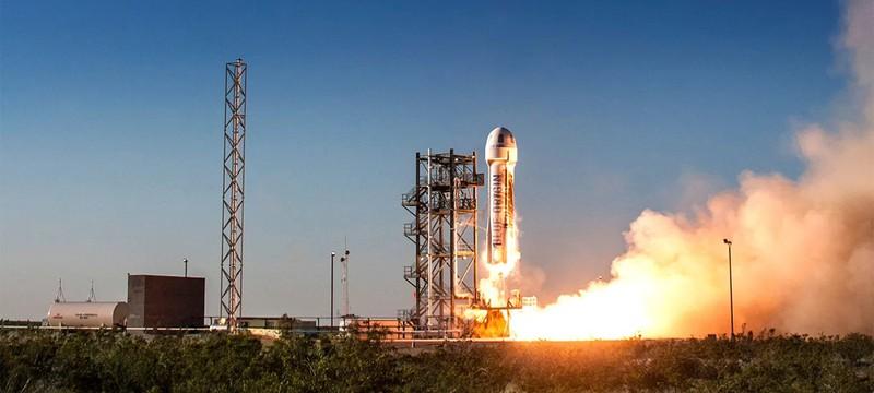 Прямой эфир с полета Джеффа Безоса в космос