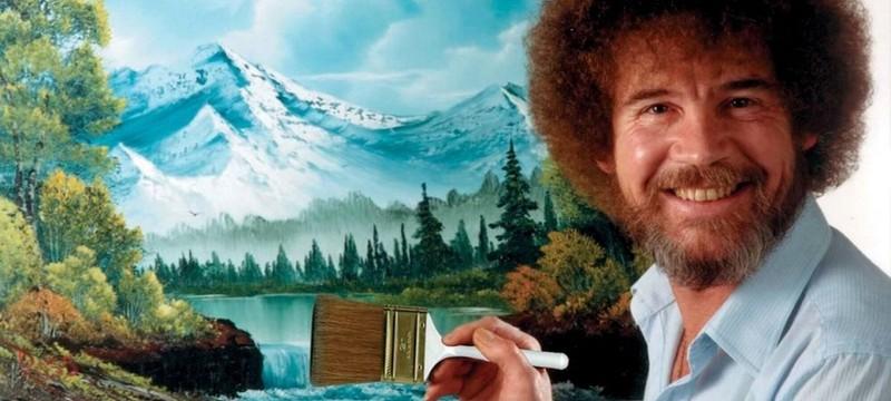 Игрок в Dreams нарисовал картину Боба Росса, находясь внутри картины Боба Росса