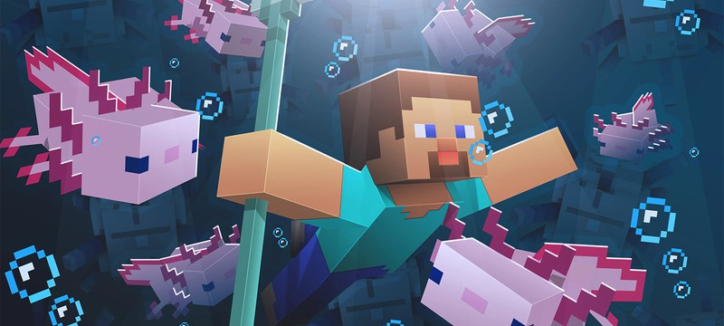 Игрок Minecraft показал, как убить Дракона Края при помощи 100 ручных аксолотлей