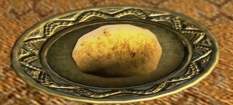 Игрок Skyrim уронил картофель и не смог поймать