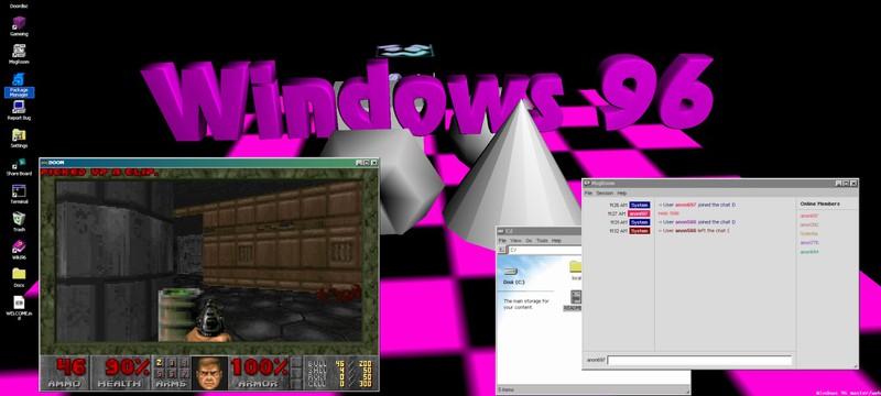 Энтузиасты сделали браузерную Windows 96