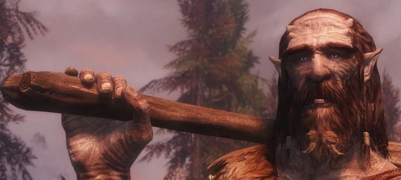Геймер увидел в Skyrim великана, который оседлал дракона