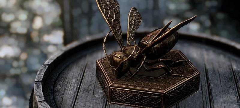 В дорелизной версии Skyrim пчелы могли запустить телегу в небо и захватить игрока в плен