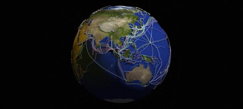 Посмотрите на крутую визуализацию подводных оптических кабелей