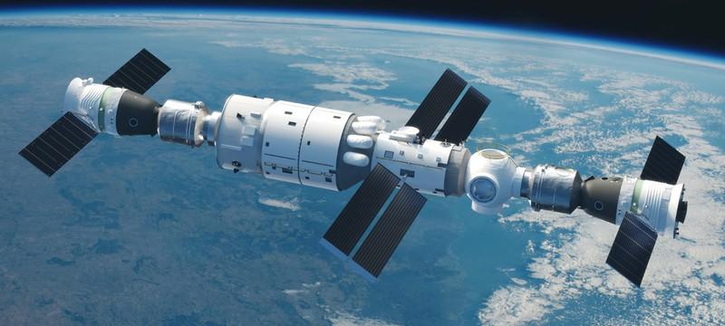 """Китайские астронавты живут в неожиданно """"роскошных"""" условиях на космической станции"""