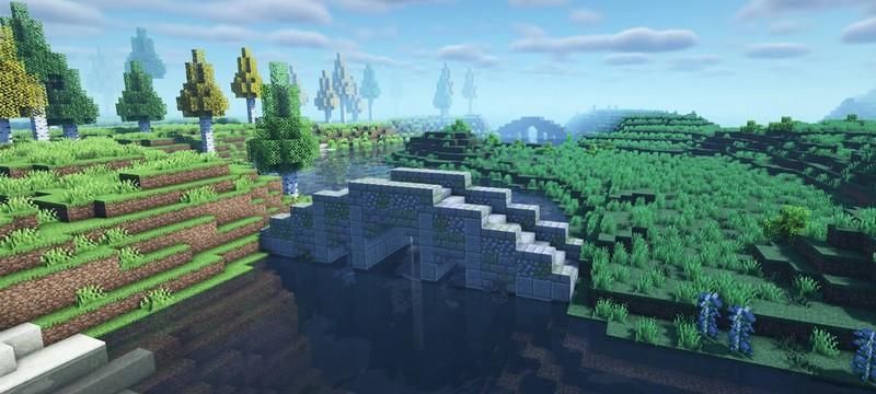 Игрок Minecraft создает мод для рандомного размещения мостов через реки
