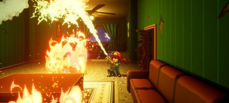 Стильный плтаформер Firegirl: Hack 'n Splash Rescue выйдет в начале декабря