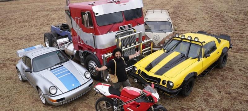 """Яркие автоботы и суровые десептиконы на новых фото со съемок """"Трансформеров 7"""""""