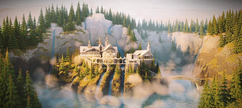 """Энтузиаст воссоздал в Minecraft Ривенделл из """"Властелина колец"""""""