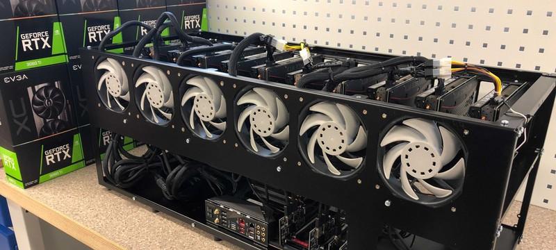 Майнеры обошли ограничение на добычу криптовалют новыми видеокартами Nvidia