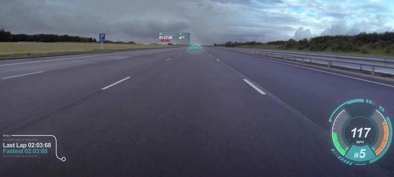 Интерфейс расширенной реальности для идеальной гонки