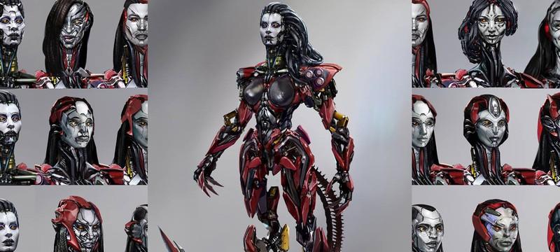 Концепты женской версии трансформера из Transformers 4
