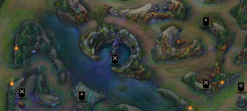 Интерактивная карта нового Ущелья Призывателей в League of Legends