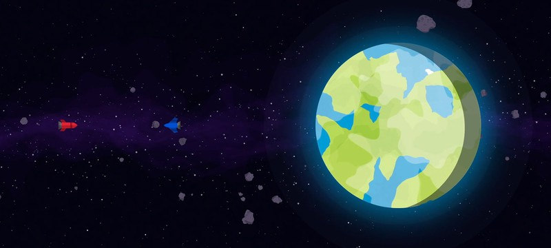 Одиночество исследования космоса в анимации