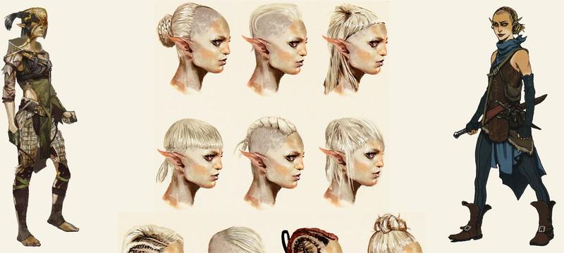 Концепт-арты Серы из Dragon Age: Inquisition