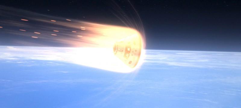 Short: что видят астронавты входя в атмосферу