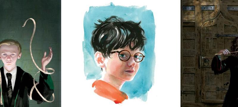 Арты из нового иллюстрированного издания Гарри Поттера