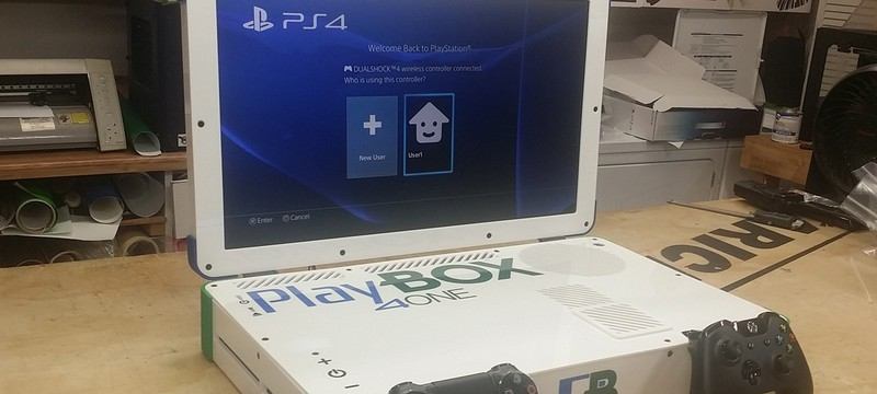 PS4 и Xbox One объединили в один игровой лэптоп
