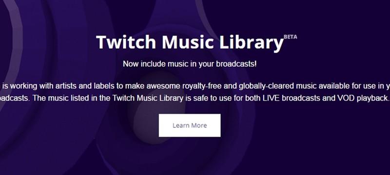Twitch анонсировал свою музыкальную библиотеку для стримеров