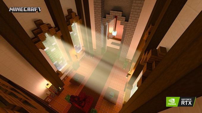 Свежие скрины Minecraft с трассировкой лучей