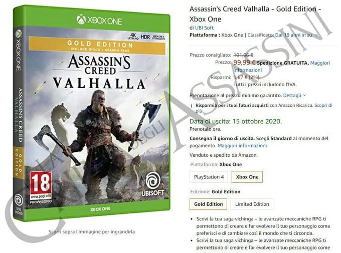 Утечка: дата выхода Assassin's Creed Valhalla