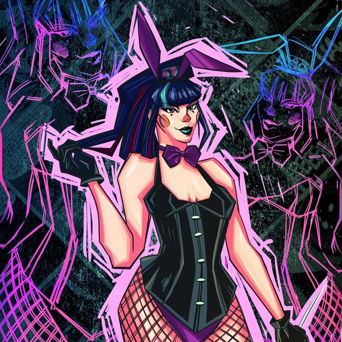Шикарные фанатские арты Панчлайн — чертовски опасной девушки Джокера