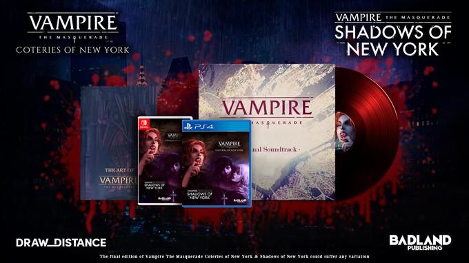 Vampire: The Masquerade - Coteries of New York и Shadows of New York получит физическое издание