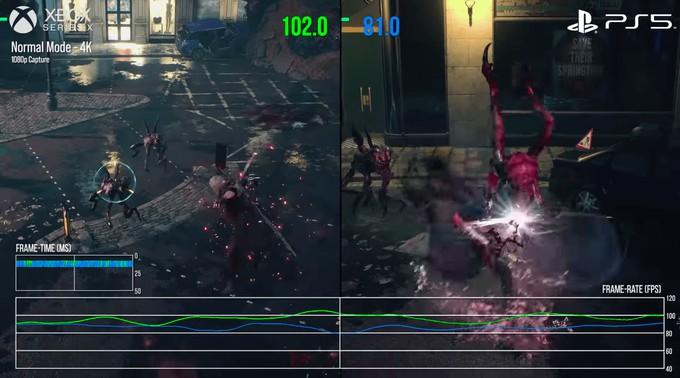 Прямое сравнение Xbox Series X и PS5 в Devil May Cry 5 — практически паритет
