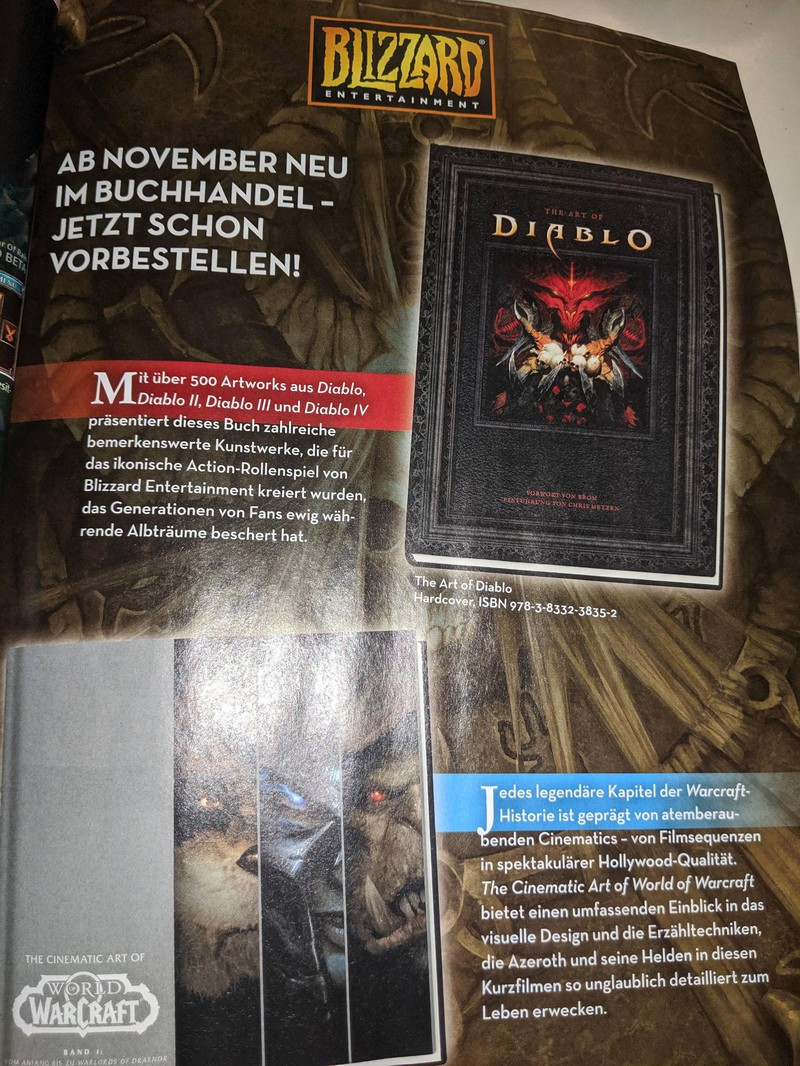 Рекламу Diablo 4 нашли в журнале