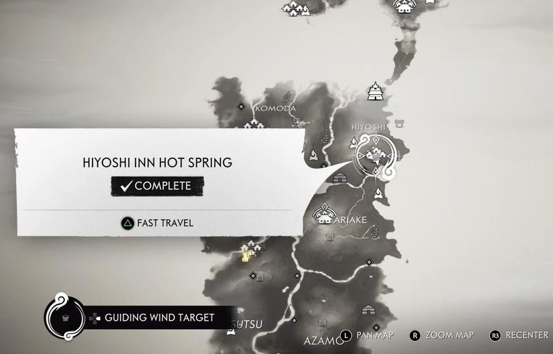 Гайд Ghost Of Tsushima — все горячие источники и награда за их поиск