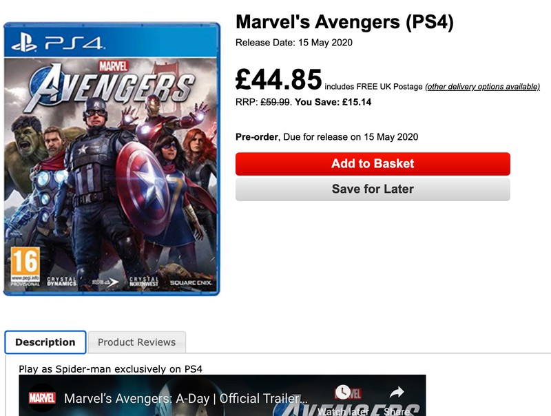 Слух: Человек-Паук в Marvel's Avengers будет эксклюзивом PS4
