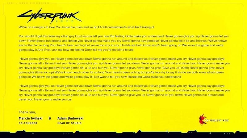 Игрок провел ритуал, чтобы Cyberpunk 2077 не перенесли