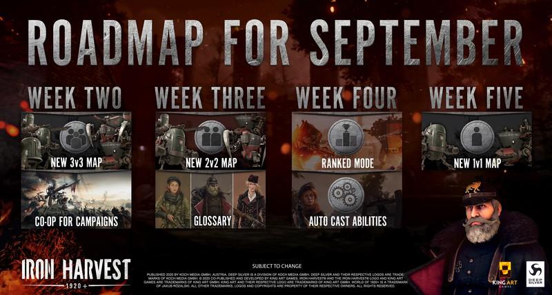 Ранговый режим, новые карты и кооператив — что ждет Iron Harvest в сентябре