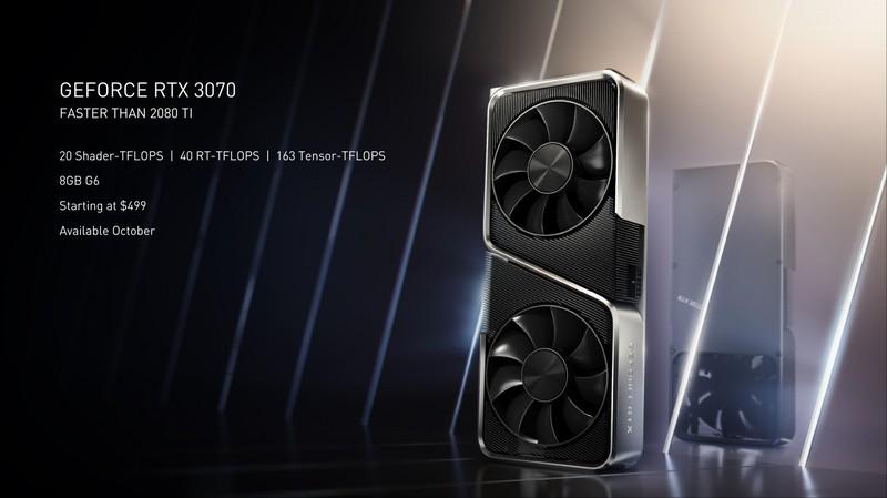 Продажи NVIDIA RTX 3070 стартуют 15 октября